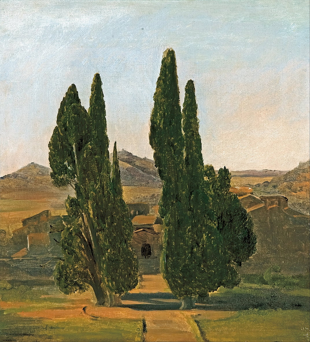 Cypress trees at the Villa dEste by Charles Lock Eastlake