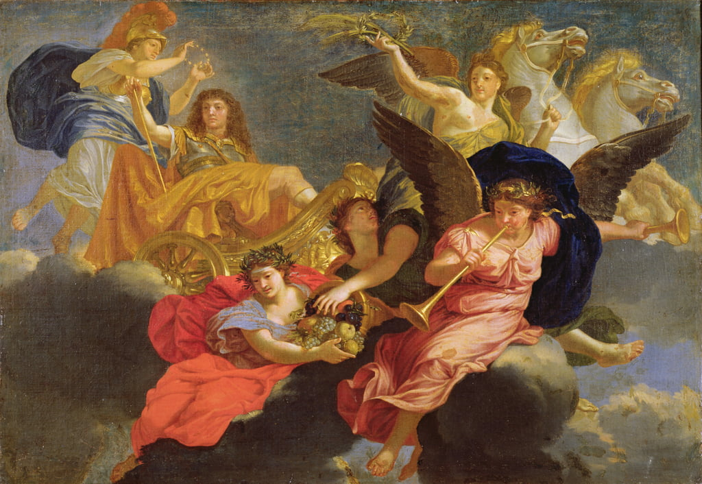 Apotheosis of King Louis XIV of France  by Charles Le Brun