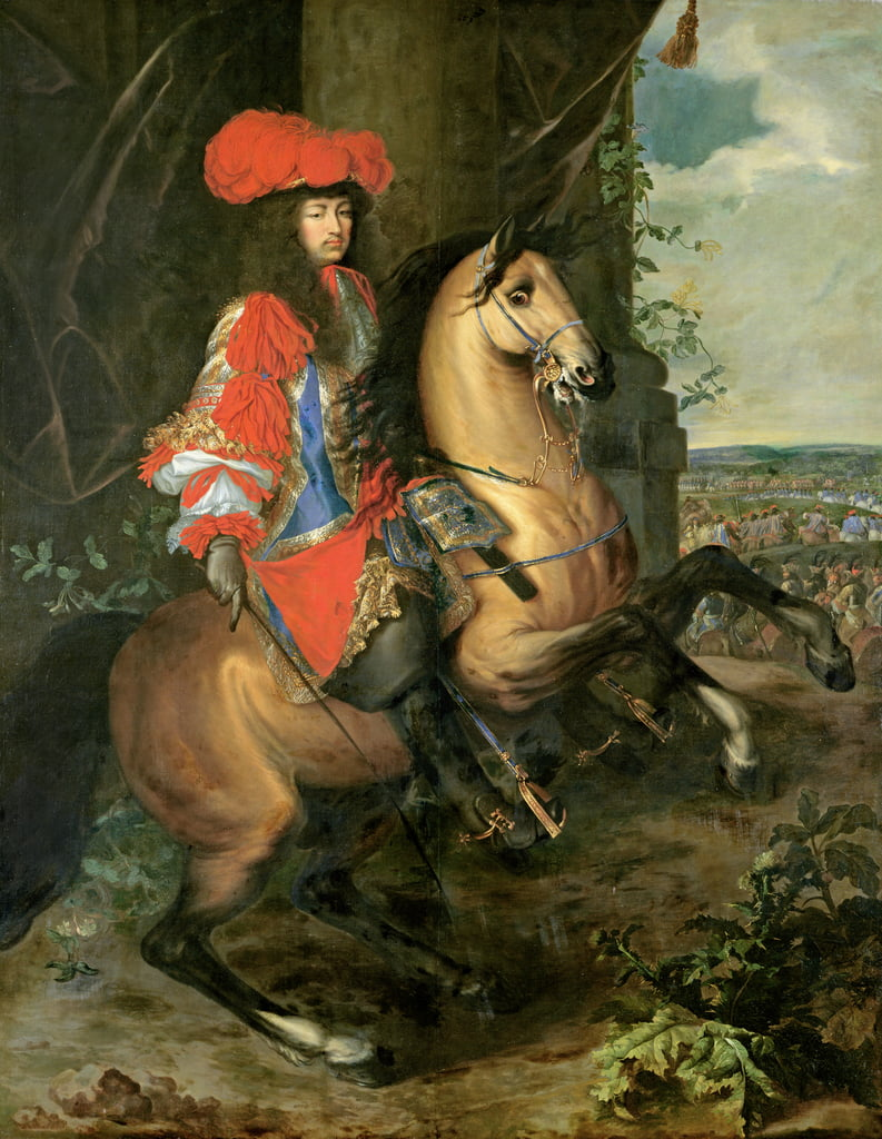 Equestrian Portrait of Louis XIV (1638-1715)  by Charles Le Brun