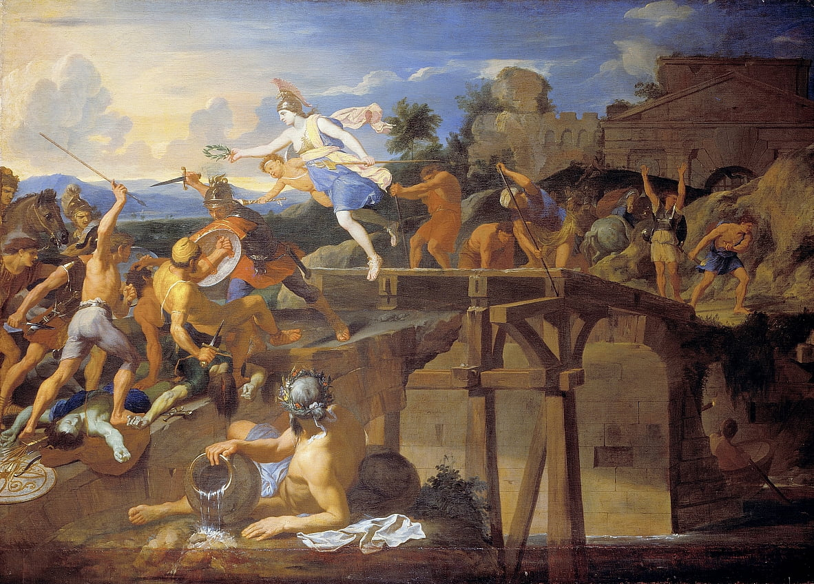 Horatius Cocles defending the Bridge by Charles Le Brun