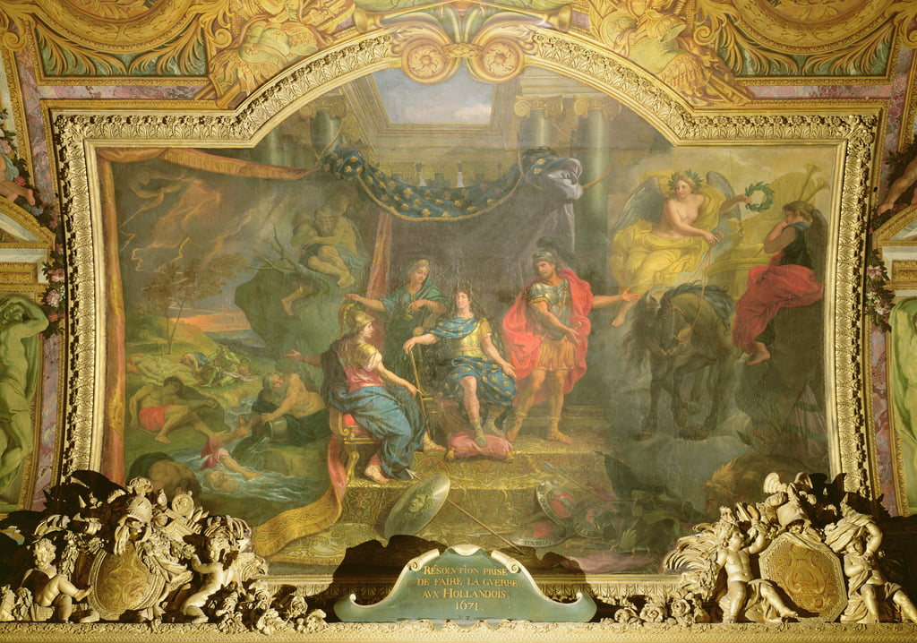 The Decision to Make War on the Dutch in 1671, Ceiling Painting from the Galerie des Glaces by Charles Le Brun