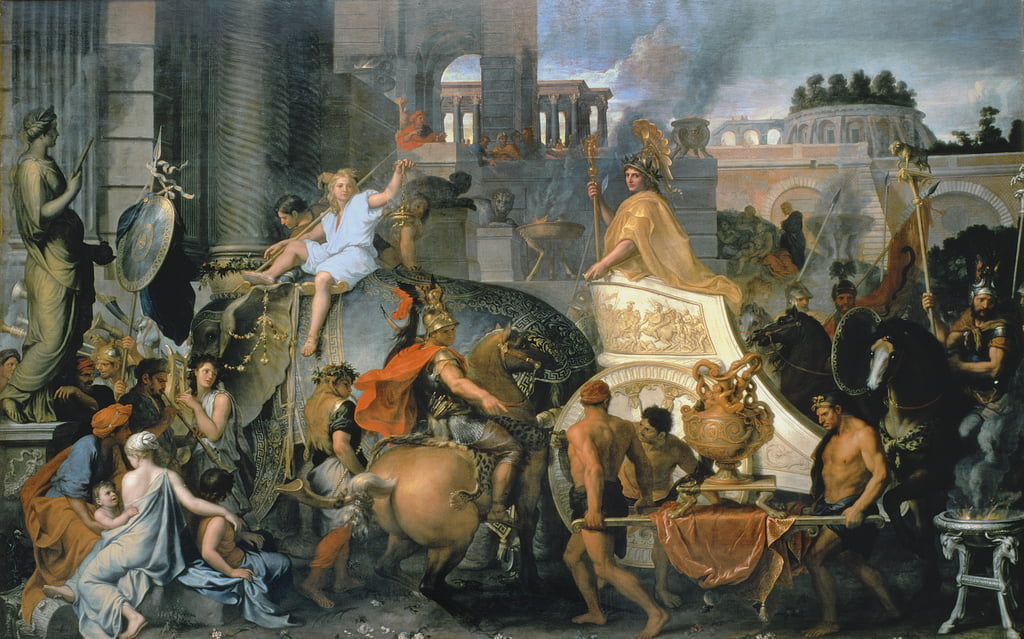 The Triumph of Alexander, or the Entrance of Alexander into Babylon, c.1673  by Charles Le Brun