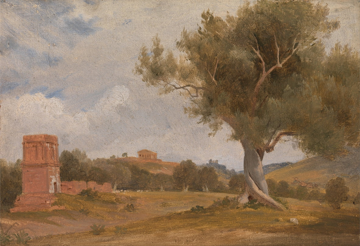 A View at Girgenti in Sicily with the Temple of Concord and Juno by Charles Lock Eastlake
