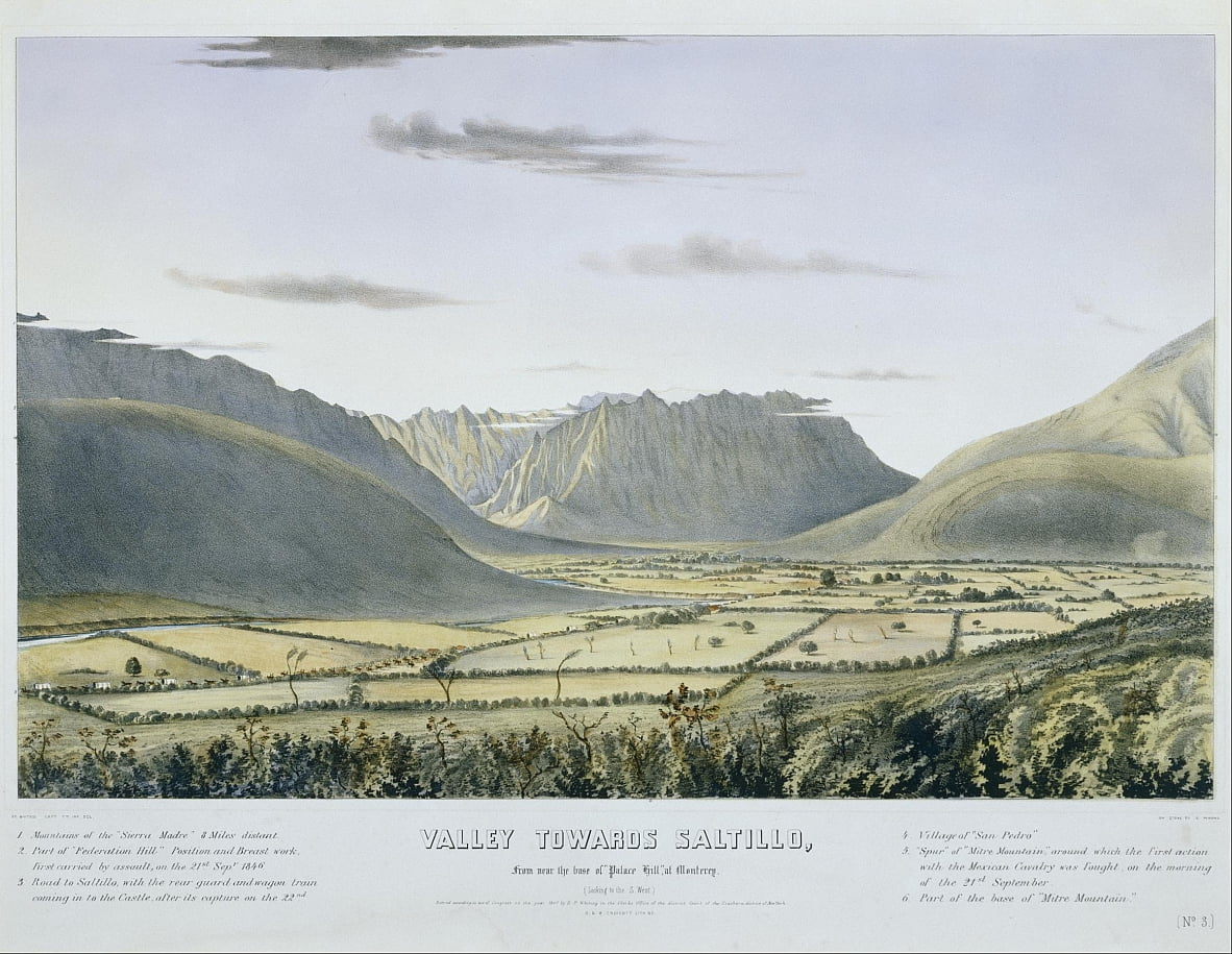 Valley towards Saltillo, From near the base of Palace Hill, at Monterey. (Looking to the S. West.)... by Charles Parsons