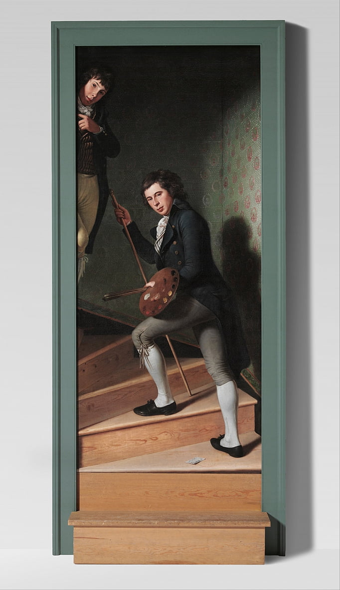 Staircase Group (Portrait of Raphaelle Peale and Titian Ramsay Peale) by Charles Willson Peale