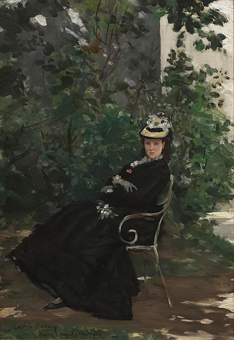 Portrait of Madame Alice Hoschede, c.1872-78  by Charles Emile Auguste Carolus Duran