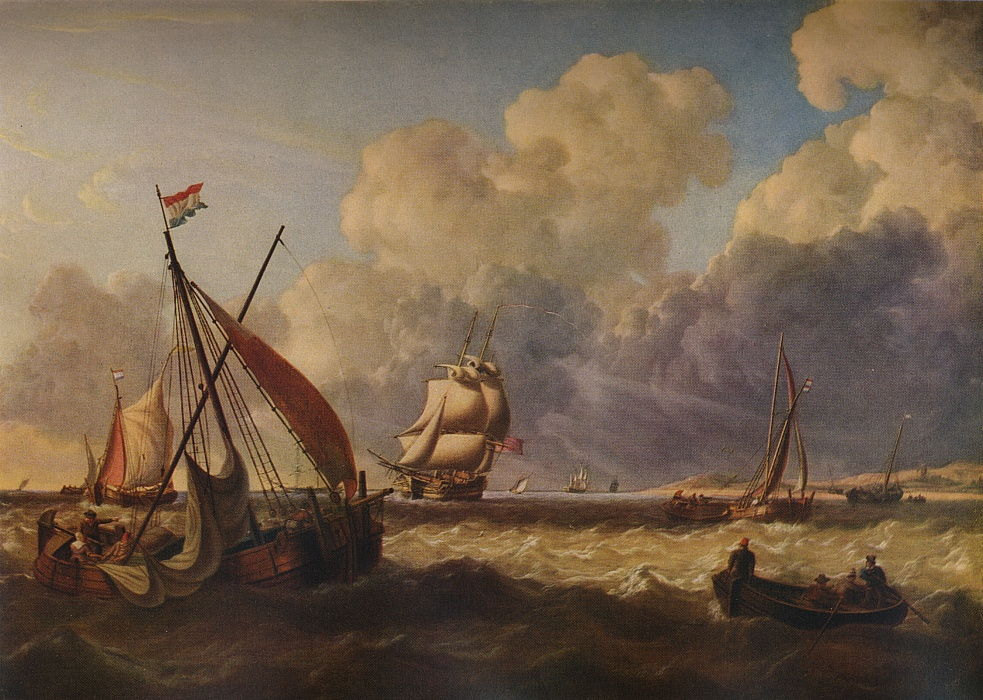 Fishing Boats off the Dutch Coast, 1823 by Charles Martin Powell