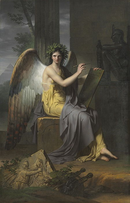Clio, Muse of History, 1800.  by Charles Meynier