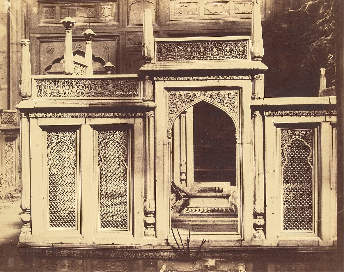 Entrance to an unidentified tomb by Charles Moravia