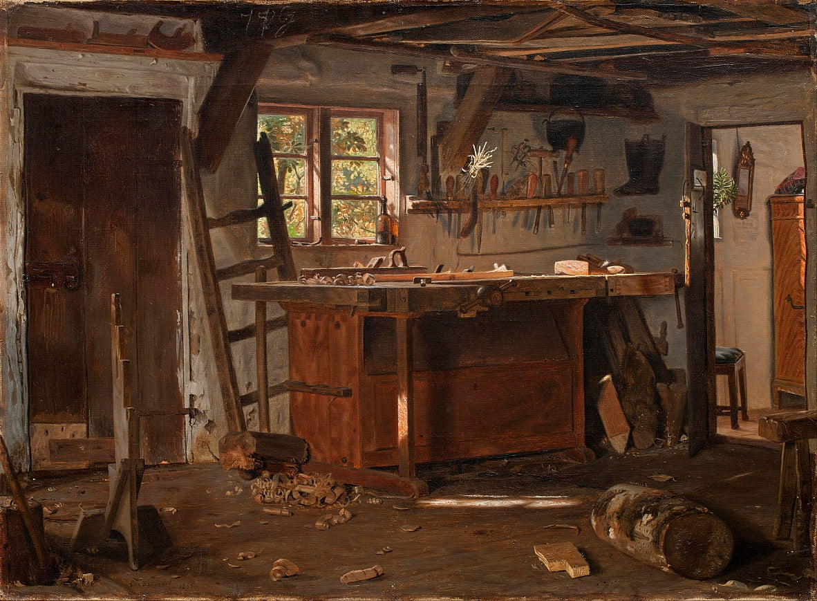 A carpenters workshop. by Christen Dalsgaard