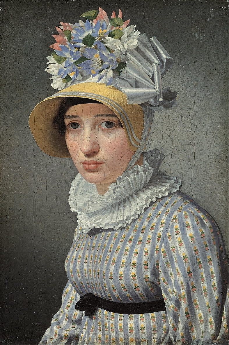 Portrait of the model Maddalena or Anna Maria Uhden by Christoffer Wilhelm Eckersberg
