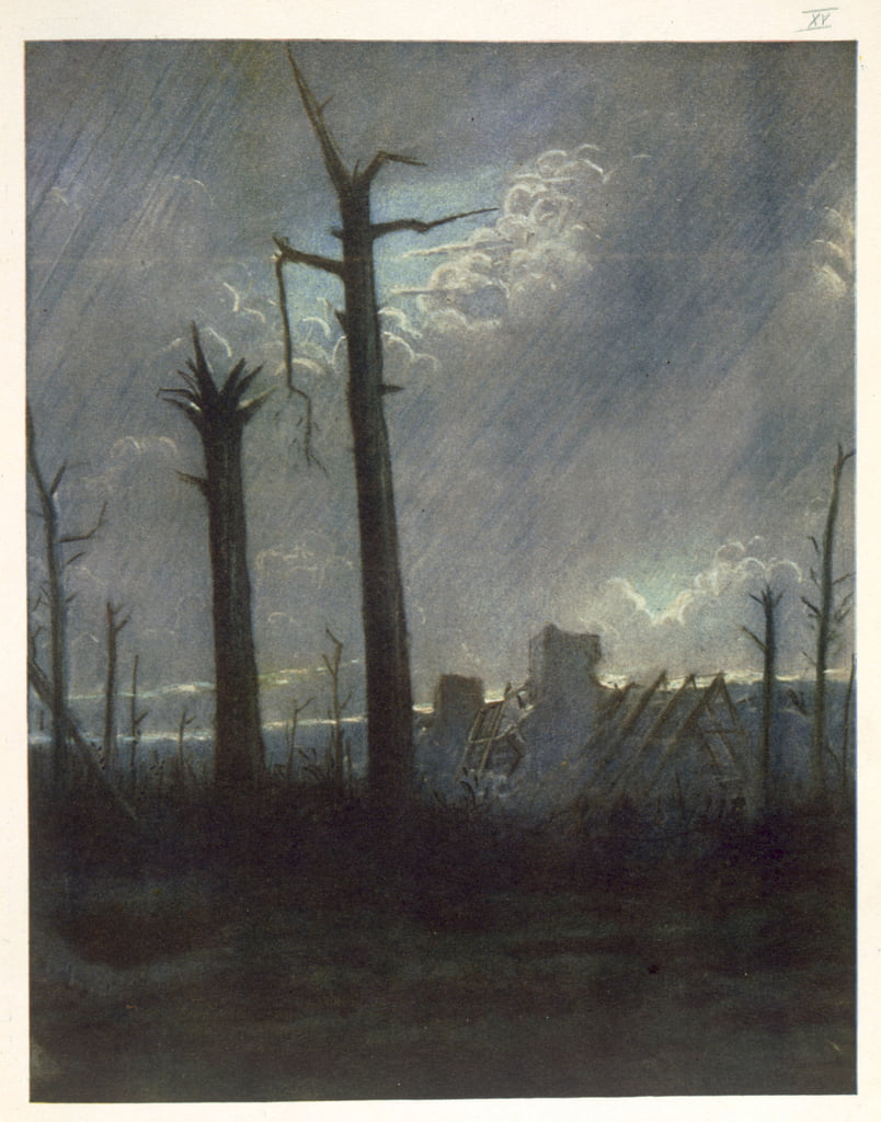 Reclaimed Country, from British Artists at the Front, Continuation of The Western Front, 1918  by Christopher Richard Wynne Nevinson