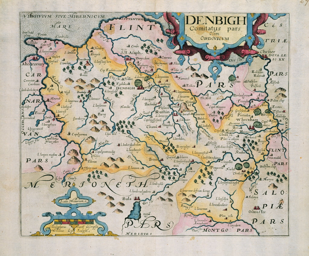 Map of Denbigh and Flint, from