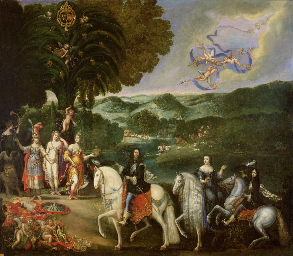 Allegory of the Marriage of Louis XIV (1638-1715) in 1631  by Claude Deruet