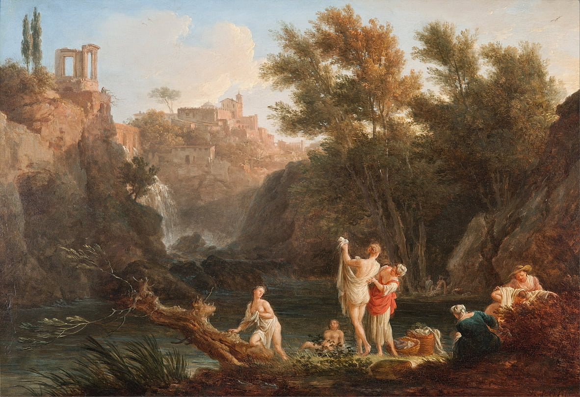 The four times of day- Evening by Claude Joseph Vernet