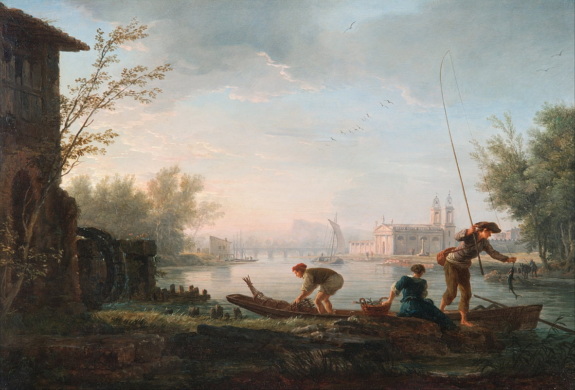 The four times of day- Morning by Claude Joseph Vernet