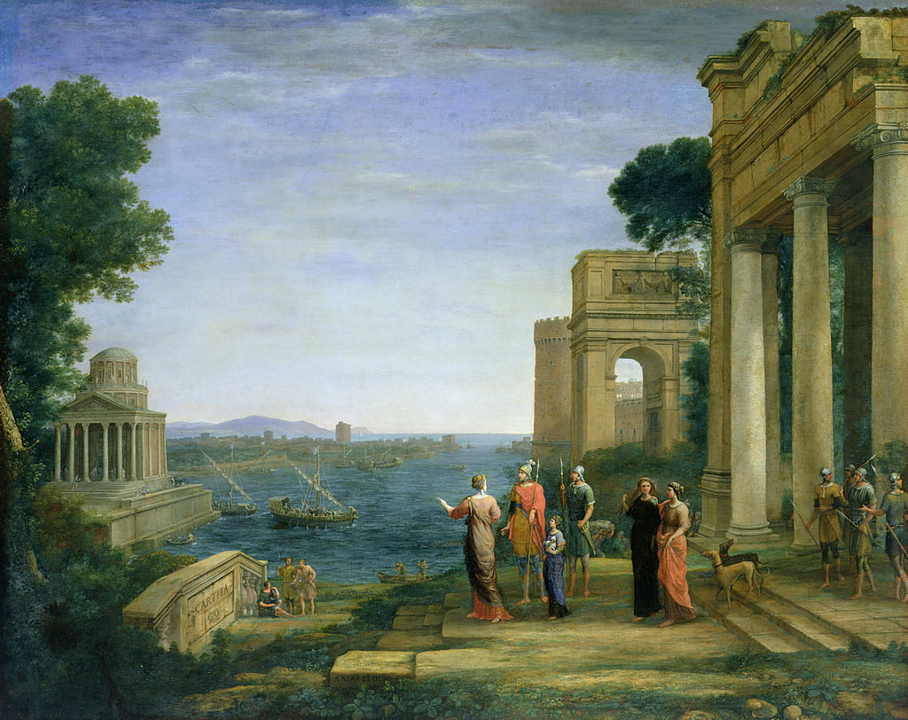 Aeneas and Dido in Carthage, 1675  by Claude Lorrain