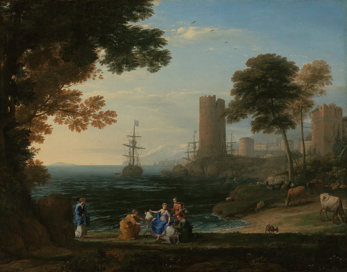 Coast View with the Abduction of Europa by Claude Lorrain