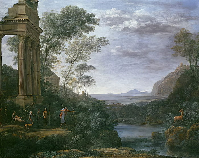 Landscape with Ascanius Shooting the Stag of Sylvia, 17th century  by Claude Lorrain