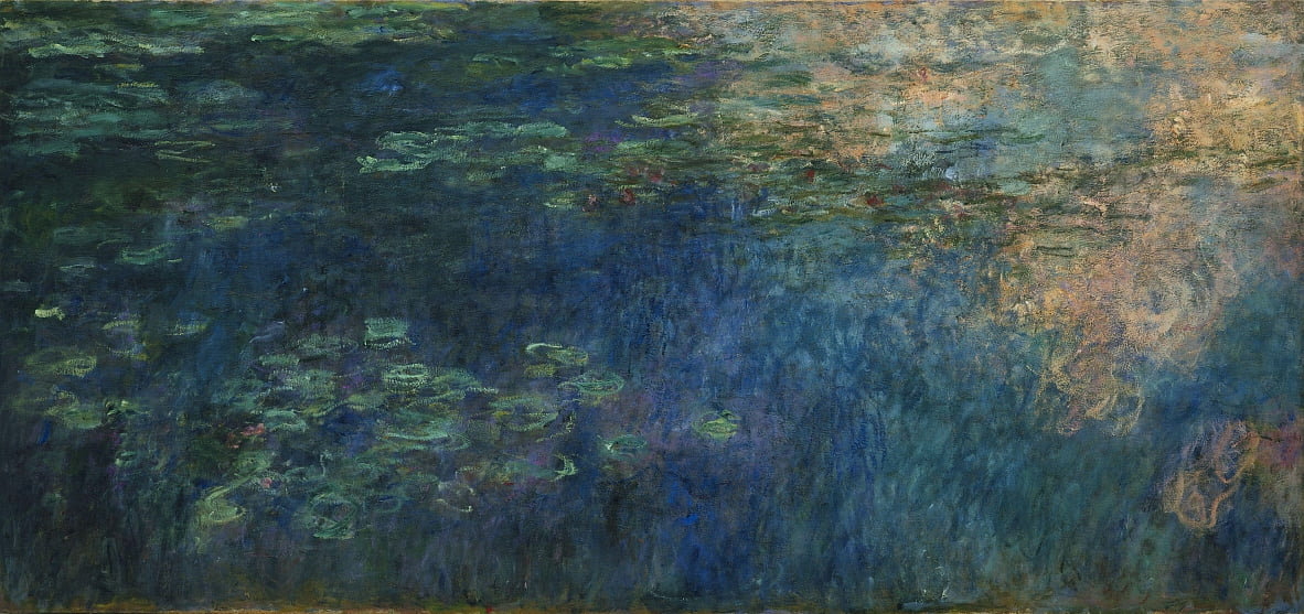 Reflections of Clouds on the Water-Lily Pondn by Claude Monet
