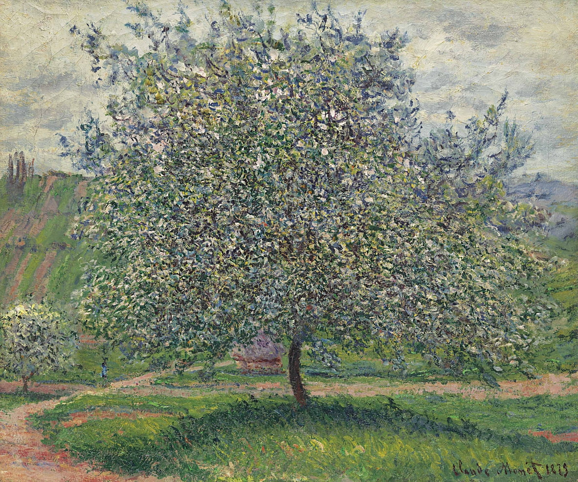 Le Pommier by Claude Monet