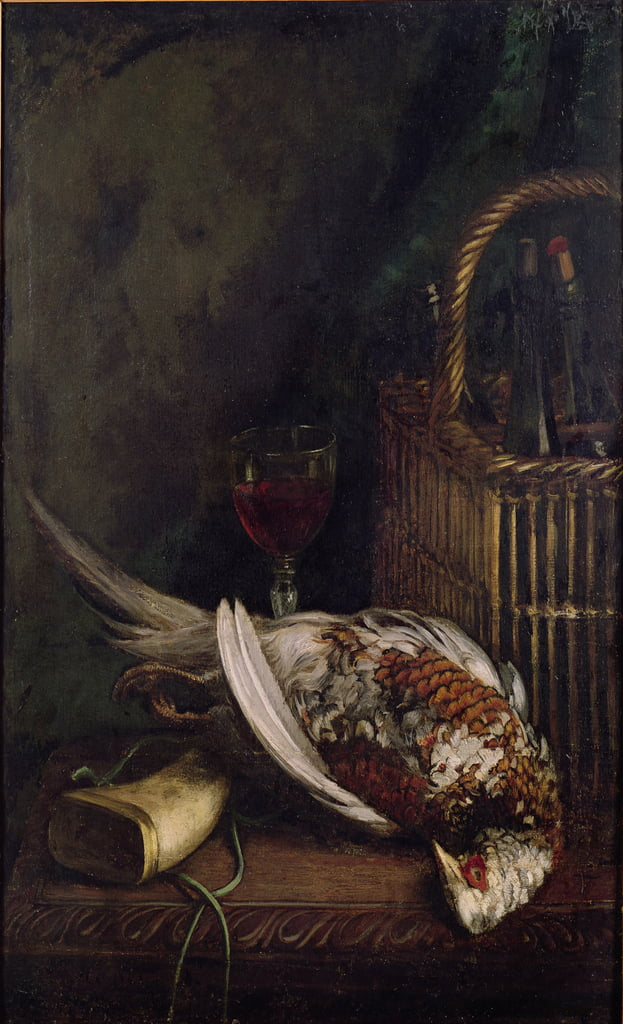 Still Life with a Pheasant, c.1861  by Claude Monet