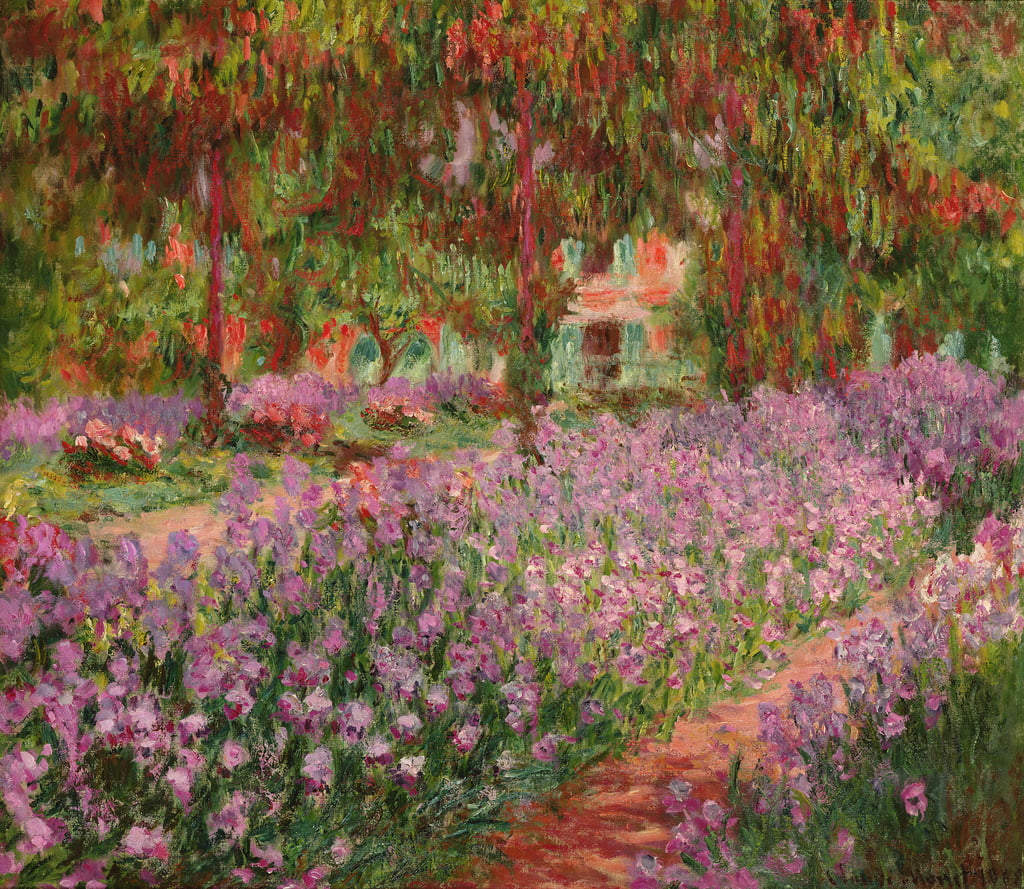 The Garden at Giverny, 1900  by Claude Monet