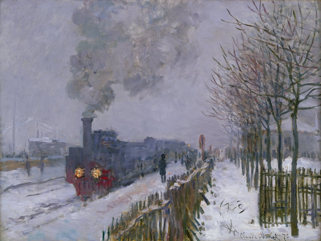 Train in the Snow or The Locomotive, 1875  by Claude Monet