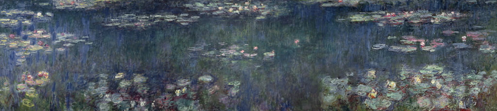 Waterlilies: Green Reflections, 1914-18 (left and right section)  by Claude Monet