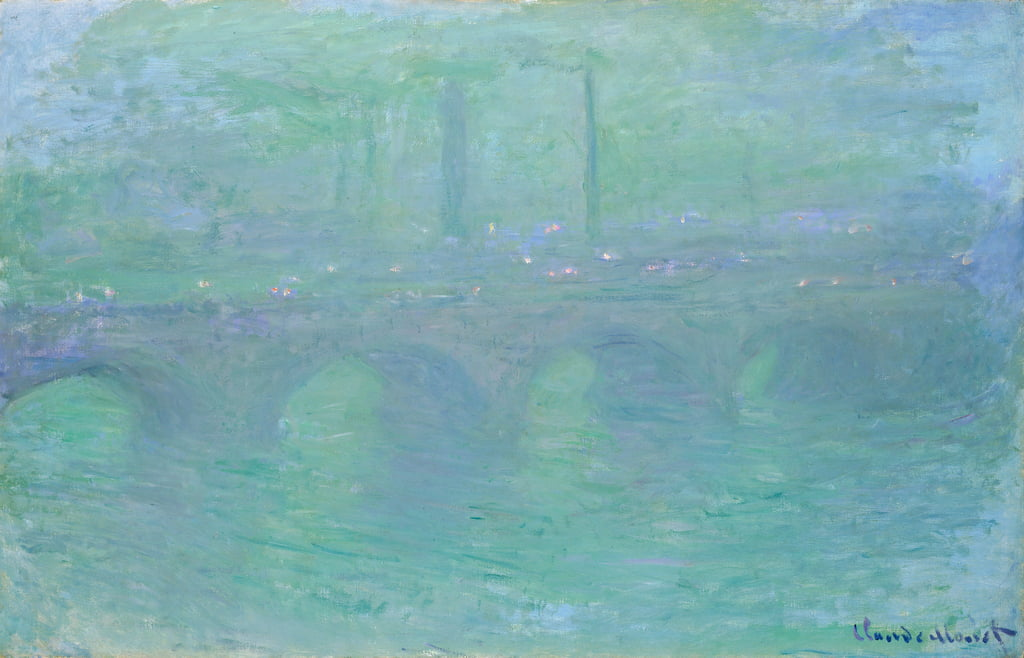 Waterloo Bridge at Dusk, 1904  by Claude Monet