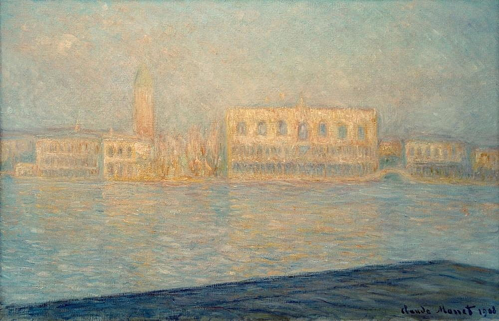 Le Palais Ducal vu de Saint-Georges Majeur by Claude Monet