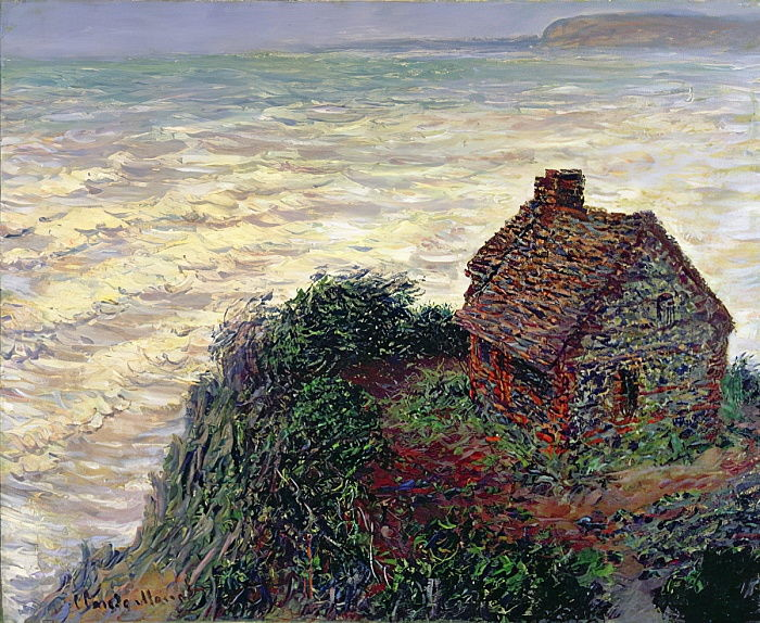 The House of the Customs Officer, Varengeville, 1882  by Claude Monet
