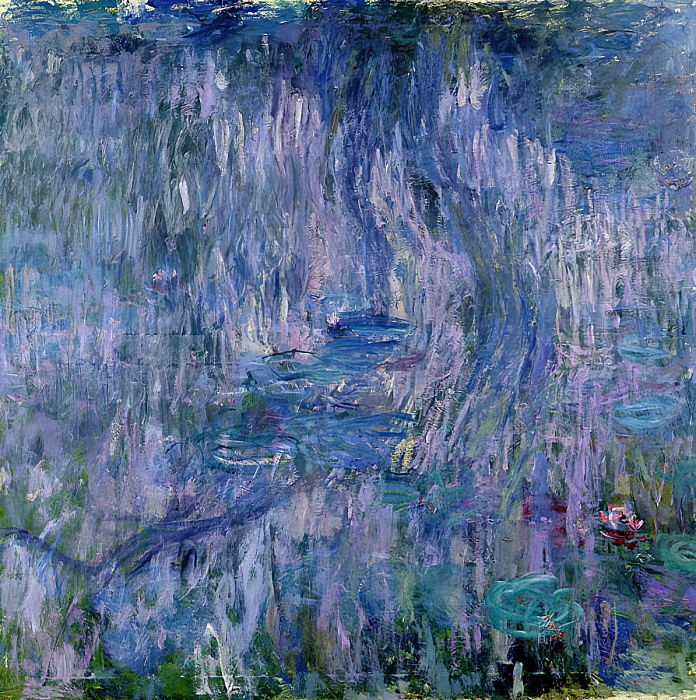 Waterlilies and Reflections of a Willow Tree, 1916-19 (see detail 414405)  by Claude Monet