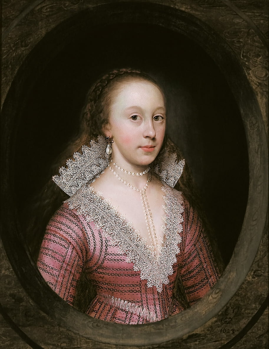 A lady, thought to be Catherine Fenn by Cornelius I Johnson