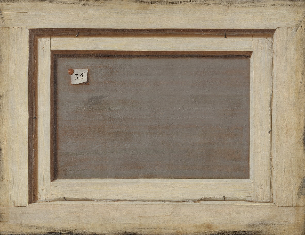 Trompe loeil. The Reverse of a Framed Painting by Cornelius Norbertus Gijsbrechts