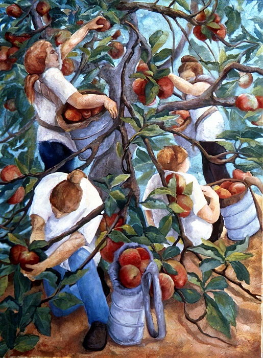 Apple Pickers, 1996  by Cristiana Angelini