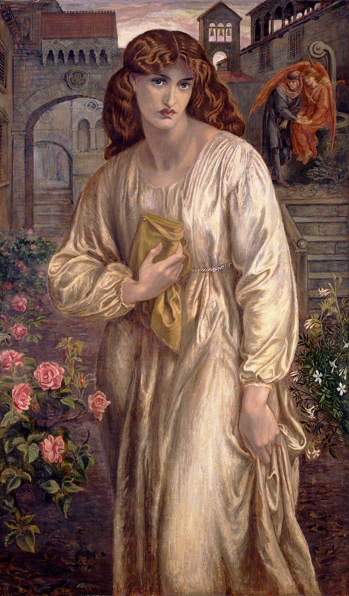 Salutation of Beatrice by Dante Gabriel Charles Rossetti