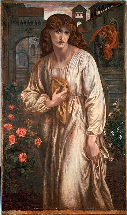 The Salutation of Beatrice by Dante Gabriel Charles Rossetti