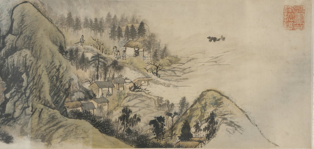 Peach Blossom Spring, Qing dynasty, 1690s-early 1700s (ink and colour on paper) by Daoji Shitao