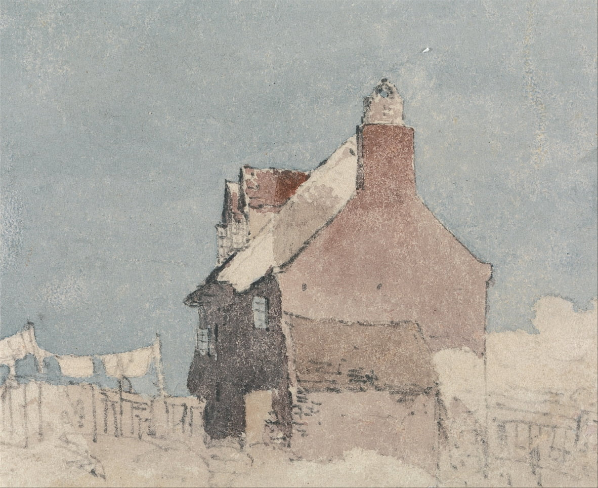 Cottage at Northfleet, Kent by David Cox