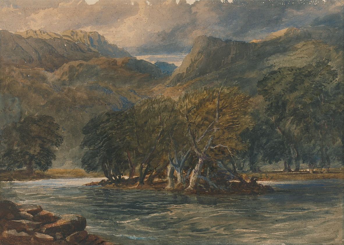 On the Conway River, North Wales by David Cox
