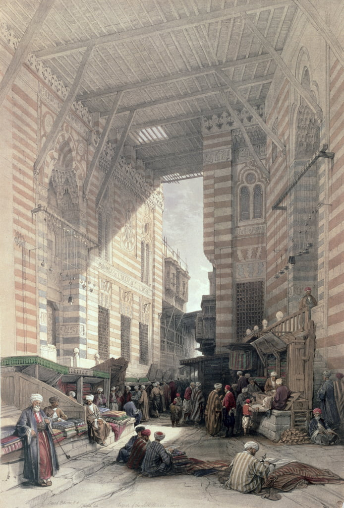 Bazaar of the Silk Merchants, Cairo, from Egypt and Nubia, Vol.3  by David Roberts