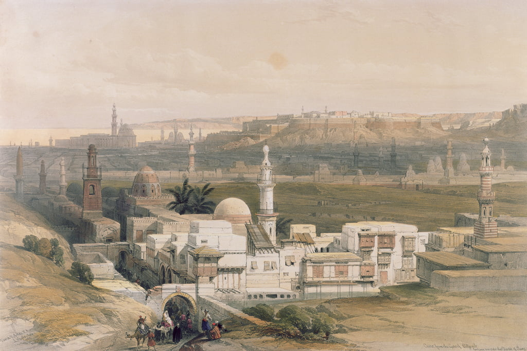 Cairo from the Gate of Citizenib, looking towards the Desert of Suez, from Egypt and Nubia, Vol.3  by David Roberts