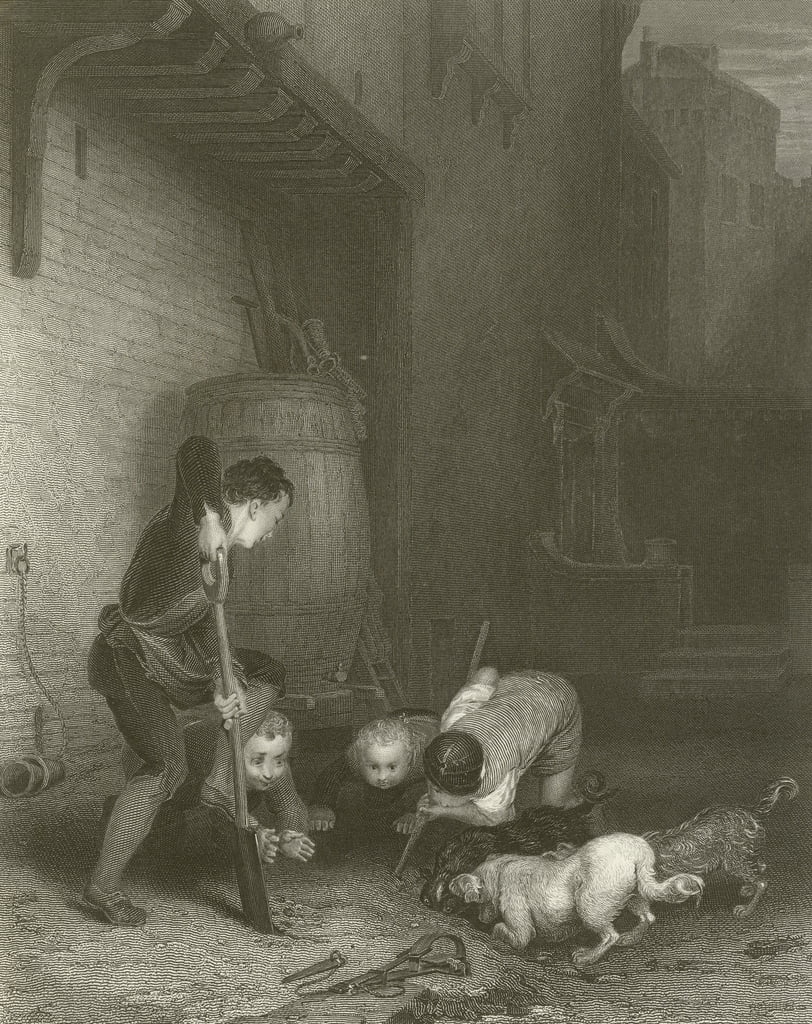 The Rat Hunters  by David Wilkie