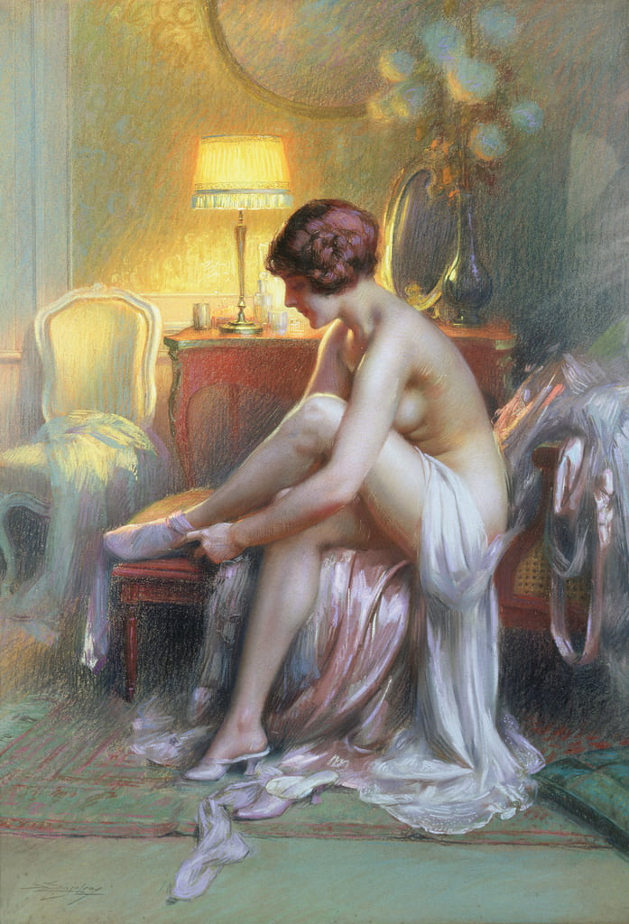 Young Woman (pastel) by Delphin Enjolras