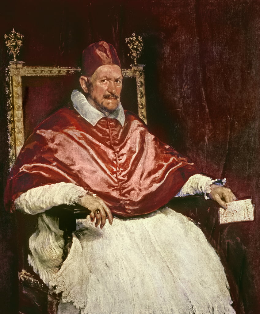 Portrait of Pope Innocent X (1574-1655), 1650  by Diego Velázquez