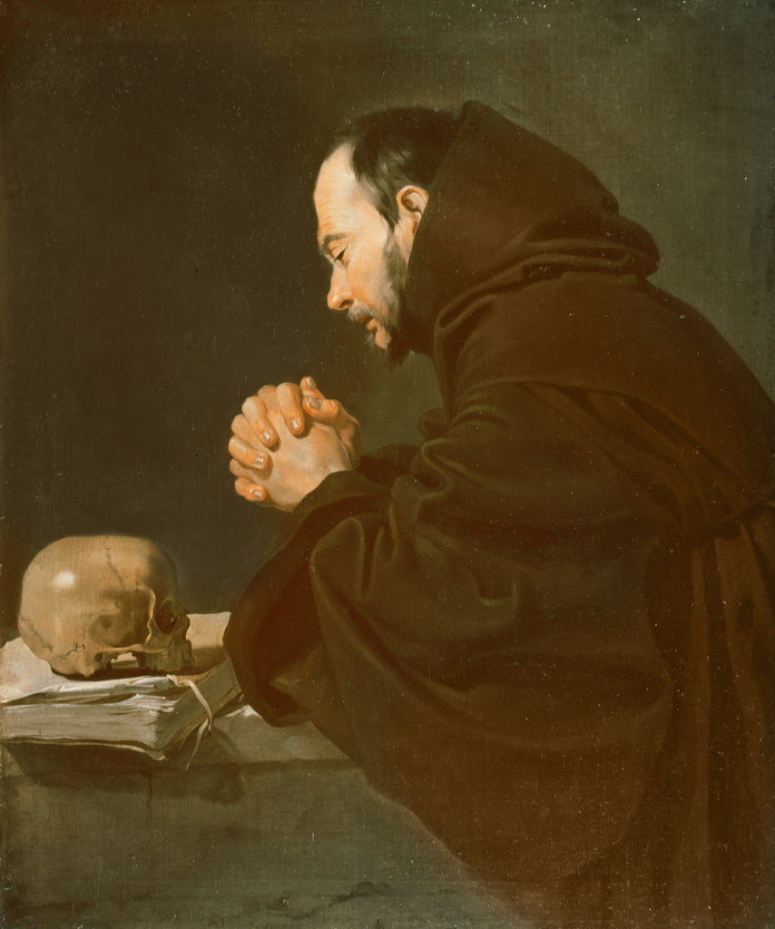 Saint Francis in Prayer  by Diego Velázquez