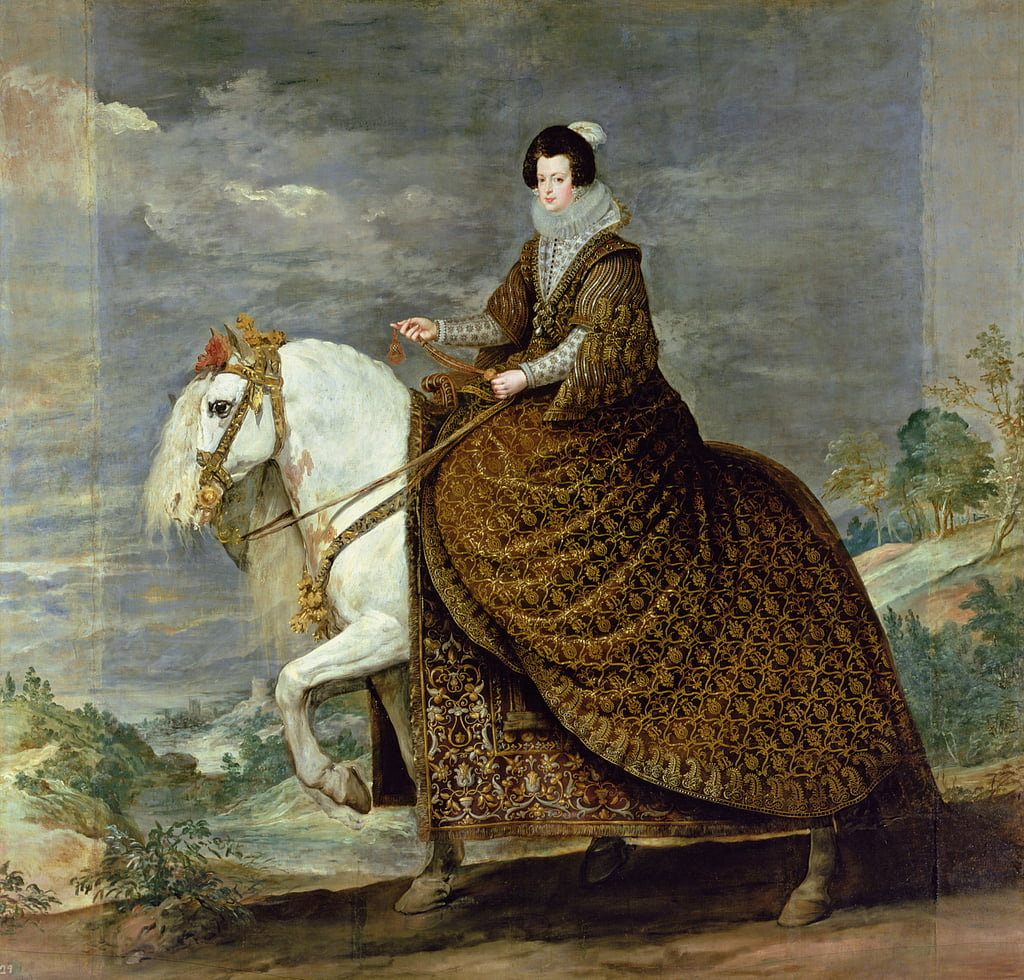 Equestrian portrait of Elisabeth de France, wife of Philip IV of Spain  by Diego Velázquez