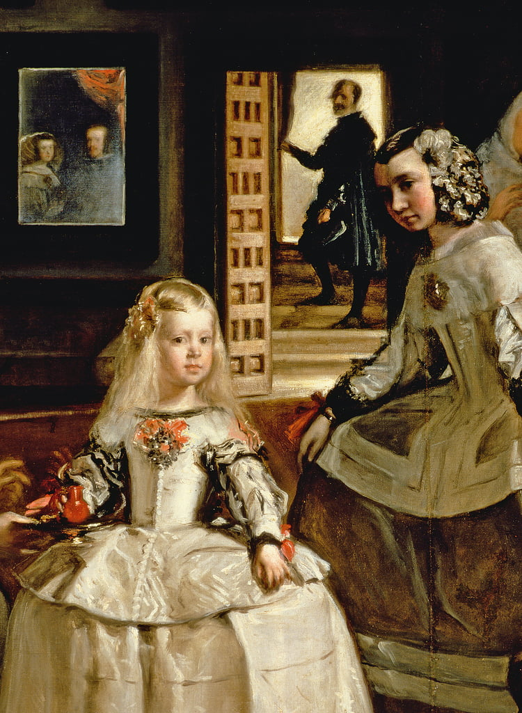 Las Meninas, detail of the Infanta Margarita and her maid, 1656  (detail of 405) by Diego Velázquez