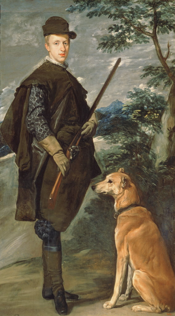 Portrait of Cardinal Infante Ferdinand (1609-41) of Austria with Gun and Dog, 1632  by Diego Velázquez